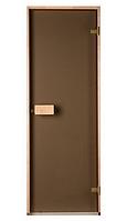 Стеклянная дверь для бани и сауны Saunax Classic прозрачная бронза