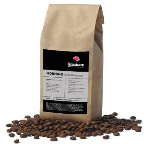Кофе Illusione Morning Espresso Blend 50/50 в зернах 200 г
