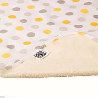 Многоразовая двухсторонняя непромокаемая   пелёнка Eco Cotton  Эко Пупс™ 65х90см