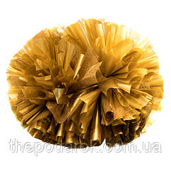 Помпон черлидера Pom Poms 1шт (золото) 15х9см