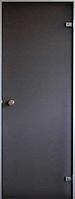 Стеклянная дверь для хамама Saunax Classic  матовая бронза