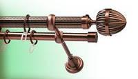 Труба/штанга рифленая для карниза 25 мм 2.4 м