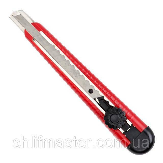 Нож с металлической направляющей 9 мм INTERTOOL HT-0511