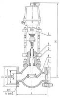 Клапан запорно-регулирующий (КЗР) 25ч947нж односедельный, фланцевый, с электрическим исполнительным механизмом