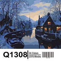 Картина по номерам Mariposa Зима в рыбацкой деревне Q-1308