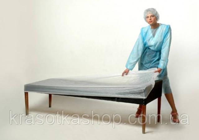 Чехол полиэтиленовый на кушетку/массажный стол, 0,8*2 м