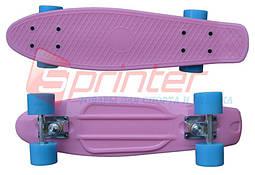 Скейт Penny. Лонгборд Penny. Круизер. Розовый. 2106