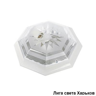Светильник ЖКХ круг пластиковый восьмигранник Dizayn на две лампы