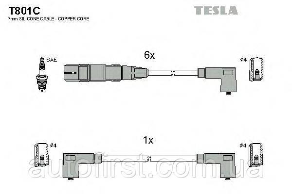 Tesla T801C Високовольтні дроти VW