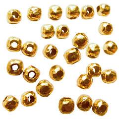 Бусины Разделители Бесшовные, Цвет Золото, Диаметр 2.4 мм, Отв. 0.8 мм, 10 г/около 190 шт.