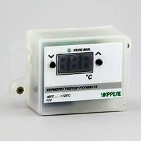 Терморегулятор цифровой накладной (-50°...+125°, реле 10А, питание 12В) РТУ-10/Н-12, фото 1