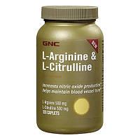 Gnc l-arginine & citrulline, 120 капс