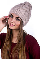 Шапка женская зимняя двойная косы Лало