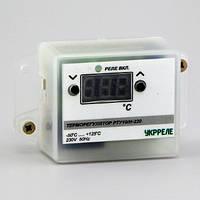 Терморегулятор цифровой в корпусе для накладного монтажа (-50°...+125°, реле 10А) РТУ-10/Н-220