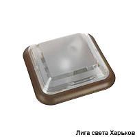 Светильник ЖКХ круг пластиковый квадрат под орех Dizayn
