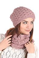 Комплект шапка и снуд женский Лаура