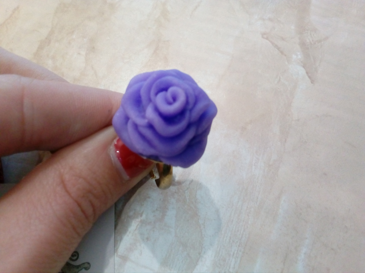 Кольцо ручной работы из полимерной глины, пластики. hand made. Exclusive!!!