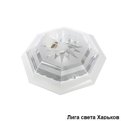 Светильник ЖКХ круг пластиковый восьмигранник Dizayn