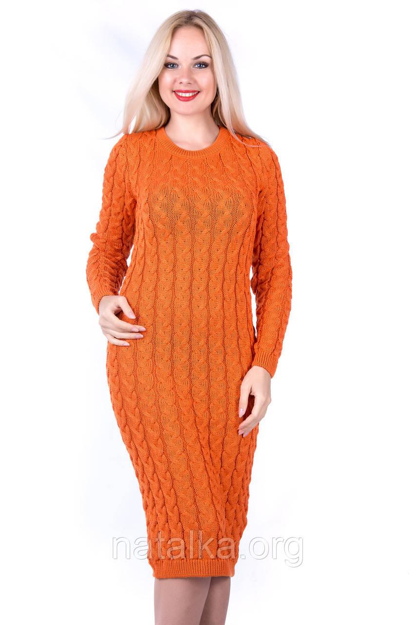 Вязаное платье «Валентина» из хлопка