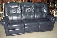 """Кожаный диван """"тройка"""" с функцией Relax(реклайнер) Германия"""