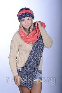 Комплект зимний женский шапка 0026 H и шарф 0027 H
