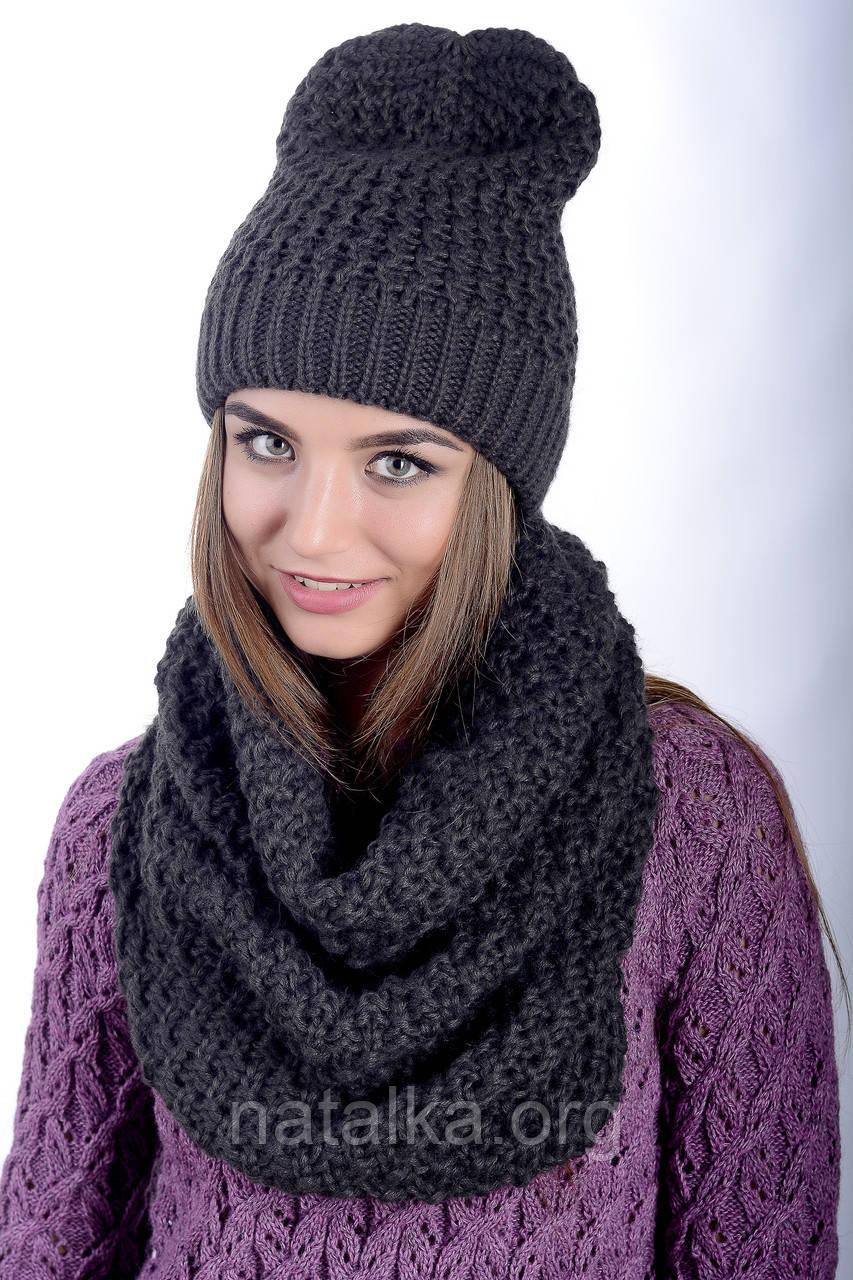 Комплект женский шапка и снуд 0035H +0036H