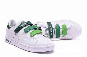 Кроссовки Adidas Stan Smith White Velcro Multicolor