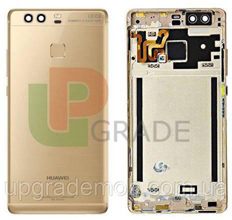 Задняя крышка Huawei P9 (EVA-L09), золотистая, Haze Gold, оригинал