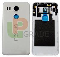 Задняя крышка LG H791 Nexus 5X, белая, оригинал (Китай)