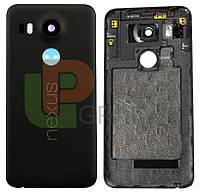 Задняя крышка LG H791 Nexus 5X, черная, оригинал (Китай)