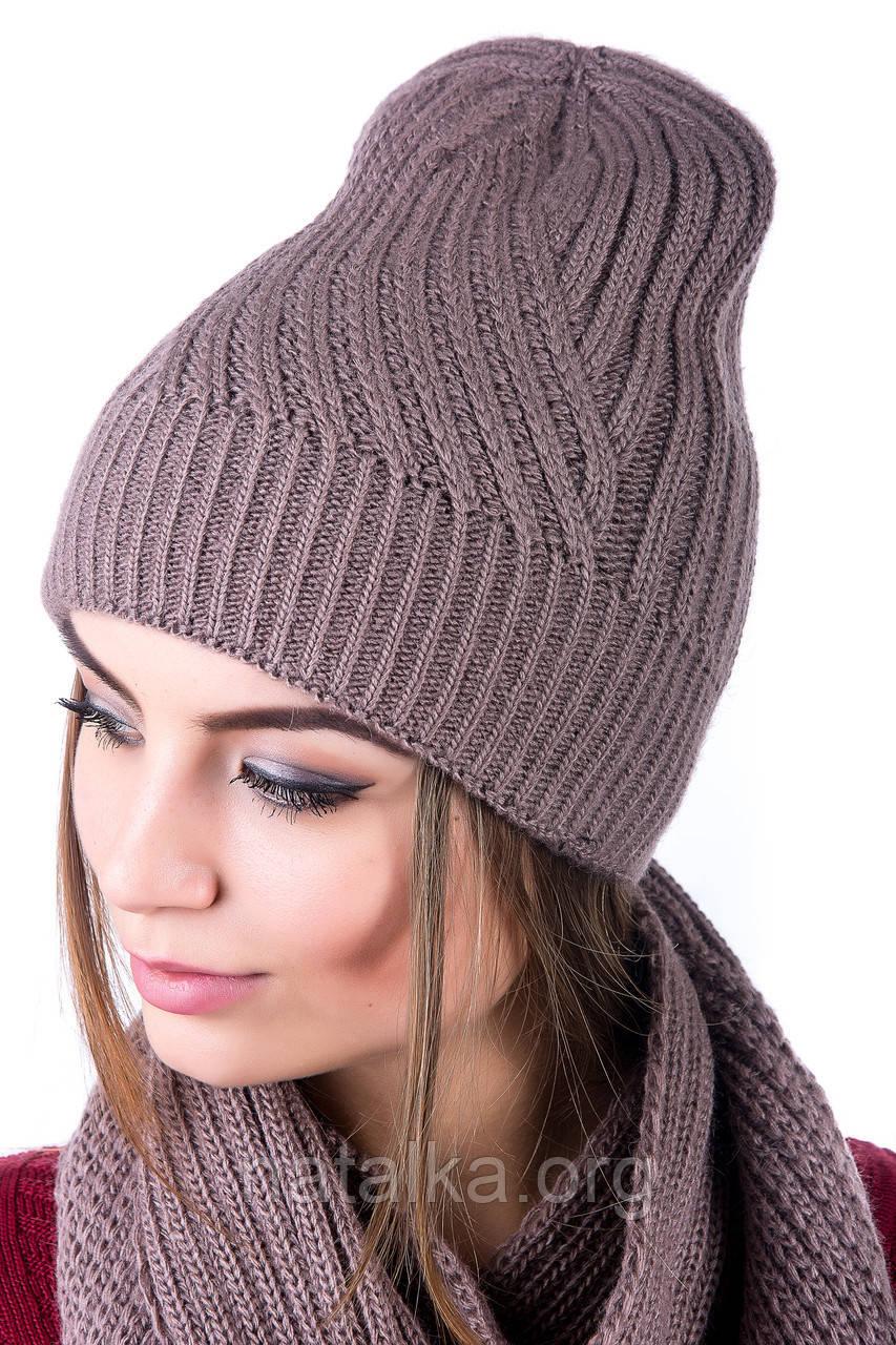 Классная бесшовная шапочка Diagonal 0055Н