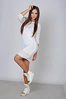 Вязаное платье «Лолита» M, белый