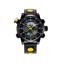 Наручные часы AMST AM3013 Мужские наручные водонепроницаемые часы, Черно-Желтые (SUN0225)