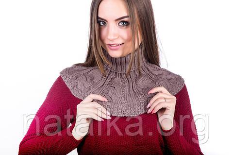 Снуд-манишка зимняя теплая Наталка