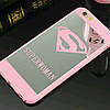 ЧехолнакладканаiPhone6 plus/6splusSuperwomenрозовый