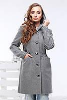 Красивое приталенное пальто