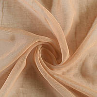 Лен льняная ткань (льняная ткань) французский кофейный светлый, ш.300