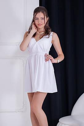 Жіноче коктейльне біле плаття Polen (S-XXL)