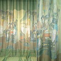 Шифон для штор вуаль фото зелено коричнев