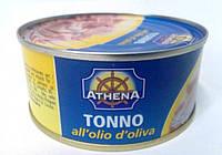 Консервированный тунец в оливковом масле Athena 160г/104г (Италия)