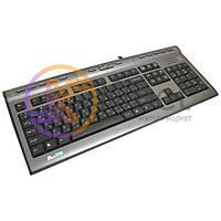 Клавиатура A4Tech KL-7MUU-R Black/Silver, USB, мультимедийная, USB2.0 x 1, Audio x 2 (3.5 мм)