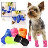 Сапожки для собак силиконовые желтые, фото 2