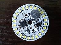 Cветодиодная плата модуль 12W 220V холодный белый SMD 2835 1000-1100Lm