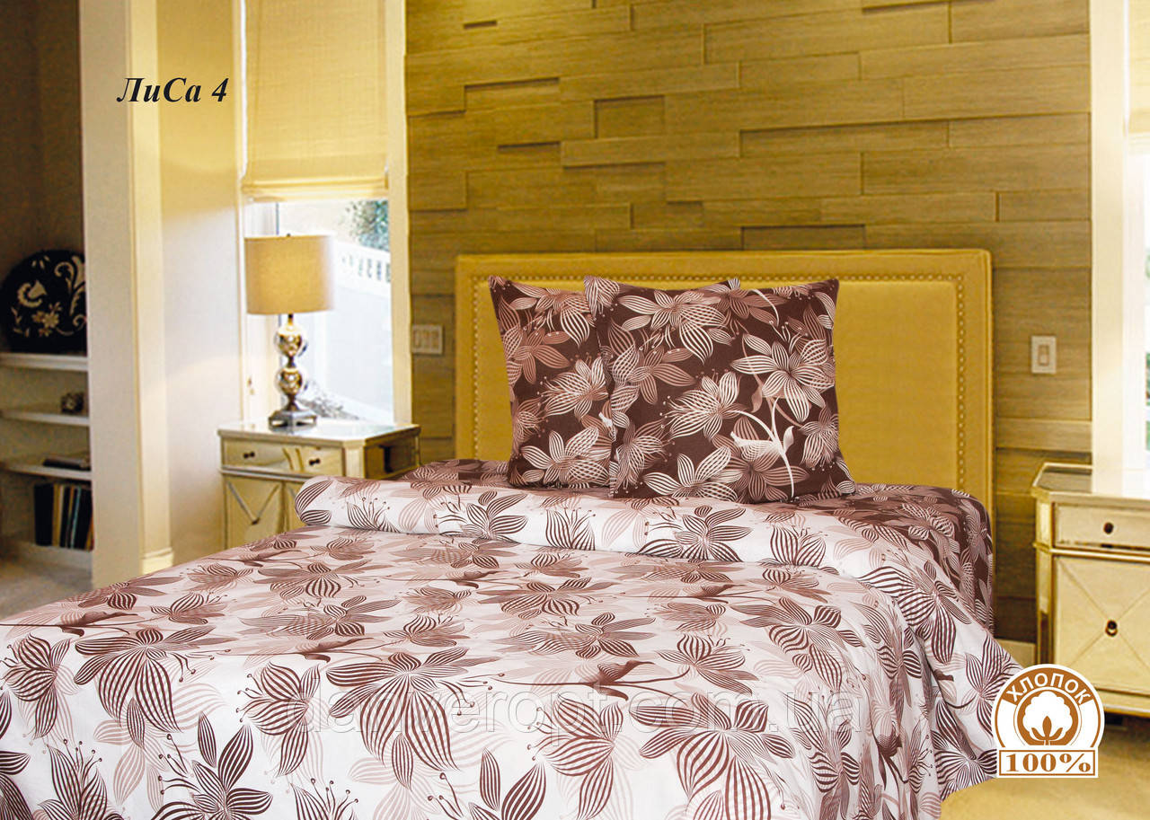 Постельное белье евро Цветочный принт, размер 200*215, купить оптом со склада 7км Одесса
