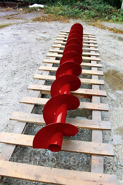 Шнеки Ø 110 мм, для труби Ø 133 мм, лопать 4 мм