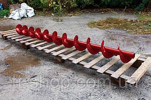 Шнеки Ø 110 мм, для трубы Ø 133 мм, лопасть 2 мм