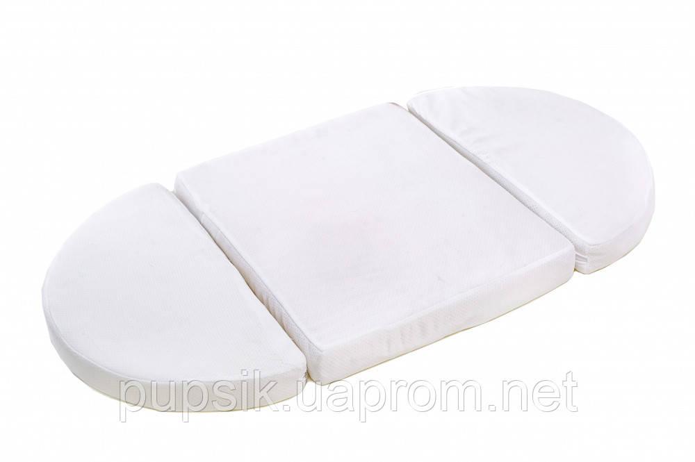 Матрас трансформер на кроватку IngVart SMARTBED ROUND кокос+латекс 72*120/ 60*120 см