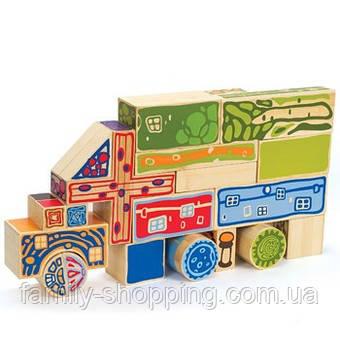 """Деревянная бамбуковая игрушка набор для конструирования фигур """"Bamboo Blocks"""""""