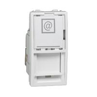 Розетка компьютерная 1-мод. 6 кат. Белый Unica Schneider, MGU3.416.18