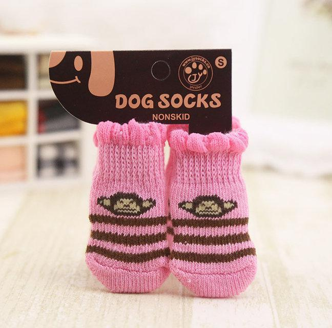 Носочки для собак мелких пород розовые Обезьянки